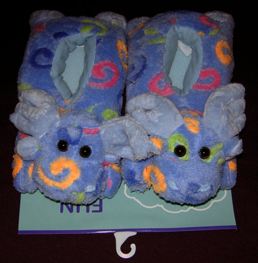 Small Blue Swirl Slippers - Toddler Size
