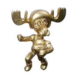 Markie Moose - Football Moose Pin in Gold