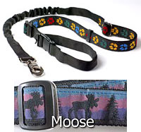 "1"" wide Super Bungee Lead with Moose Pattern"