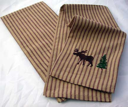 Brown Striped Kitchen Towels - 2 Pack